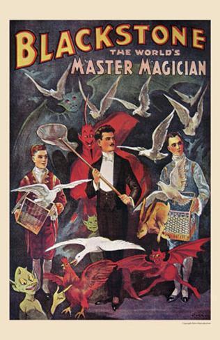 Blackstone, The World's Master Magician, 1920 Art Print