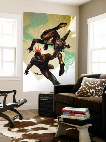 Blade No.10 Cover: Blade and Spider-Man Wall Mural