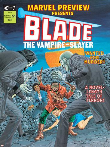 Blade The Vampire Slayer No.3 Cover: Blade Poster