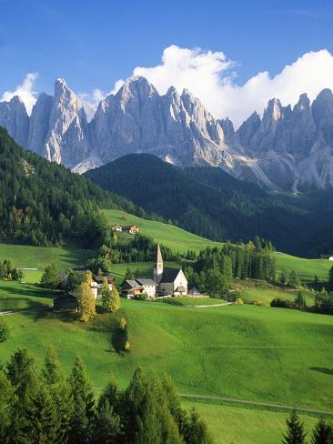 St. Magdalena in the Dolomites Photographic Print