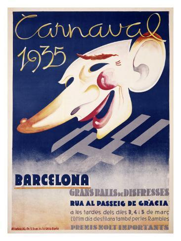 Carnaval Barcelona Giclee Print