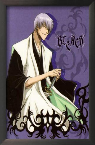Bleach - Japanese Style Purple Framed Art Print