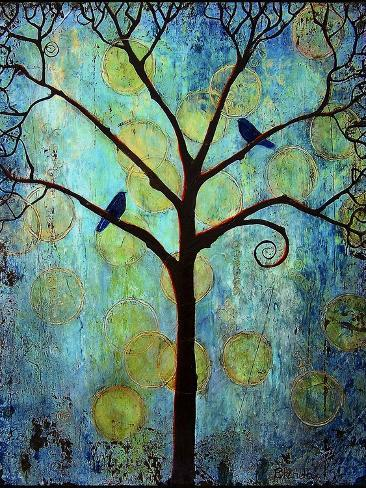 Tree Print Twilight Blue Art Print