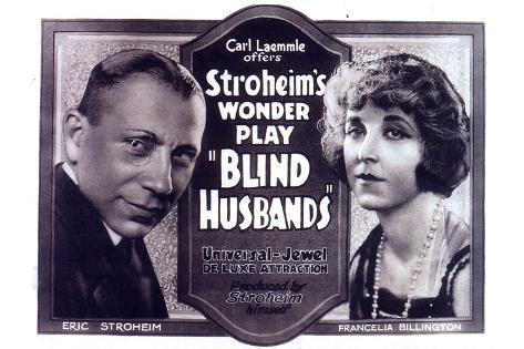 Blind Husbands Movie Sam De Grasse Francelia Billington Poster Print Poster