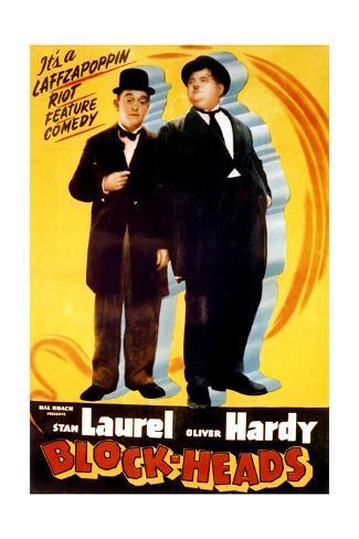 Block-Heads - Movie Poster Reproduction Art Print