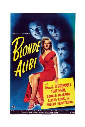 Blonde Alibi Giclee Print