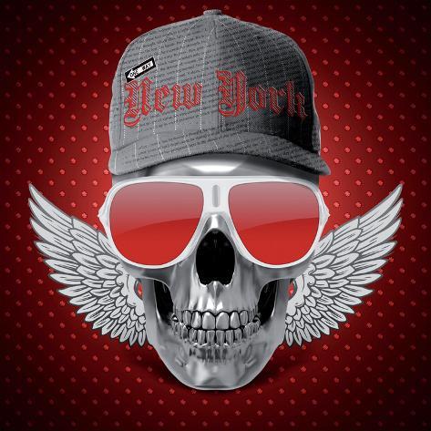 Red Skull NY Art Print
