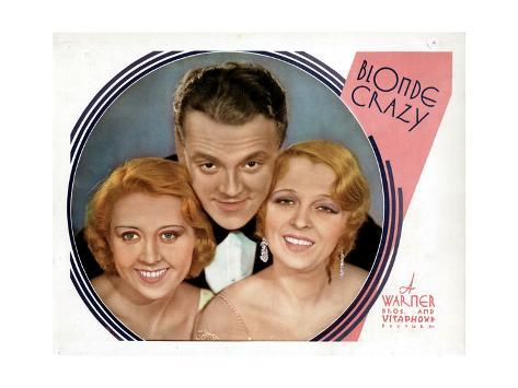 Blonde Crazy, from Left, Joan Blondell, James Cagney, Noel Francis, 1931 ジクレープリント