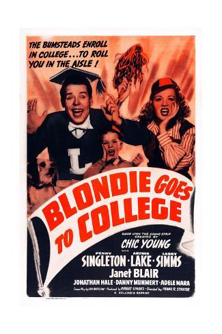 Blondie Goes to College Giclee Print