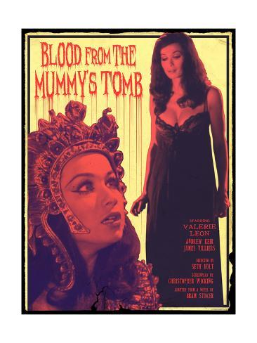 Blood From the Mummy's Tomb 1971 (Pink) Art Print