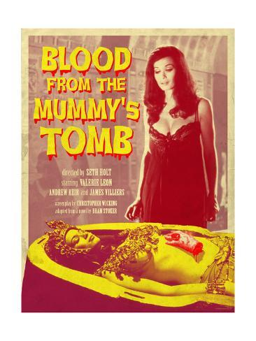 Blood From the Mummy's Tomb 1971 (Yellow) Art Print