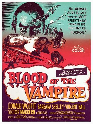 Blood of the Vampire, Donald Wolfit, Barbara Shelley, Victor Maddern, 1958 Fotografia