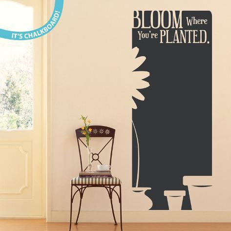 Bloom Where You're Planted 黒板ウォールステッカー・壁用シール ウォールステッカー