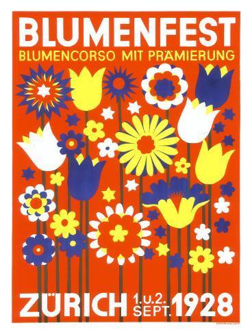 Bloomfest Zurich Giclee Print