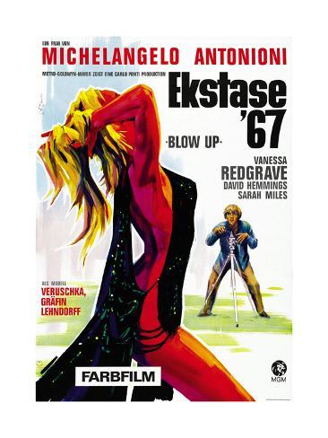 Blow-Up, David Hemmings on German Poster Art, 1966 Giclee Print