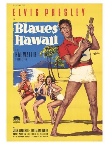 Blue Hawaii, German Movie Poster, 1961 Art Print