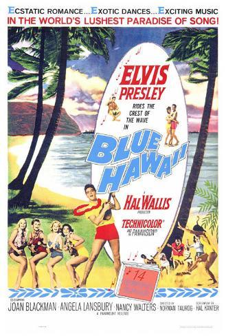 Blue Hawaii Stampa su tela