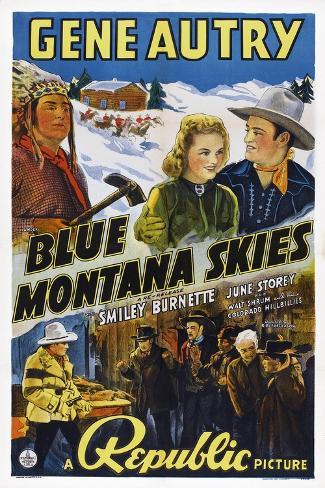 Blue Montana Skies Art Print