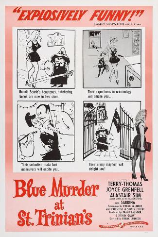 Blue Murder at St. Trinian's, Lower Right: Sabrina, 1957 Art Print