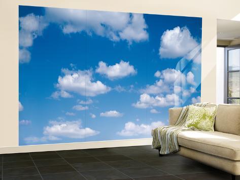 Blue Skies Huge Wall Mural Poster Print Wall Mural