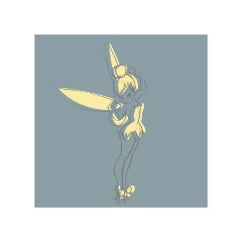 Blue Tink Sketch (square) Giclee Print