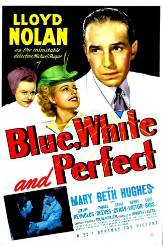 Blue, White and Perfect, 1942 Art Print