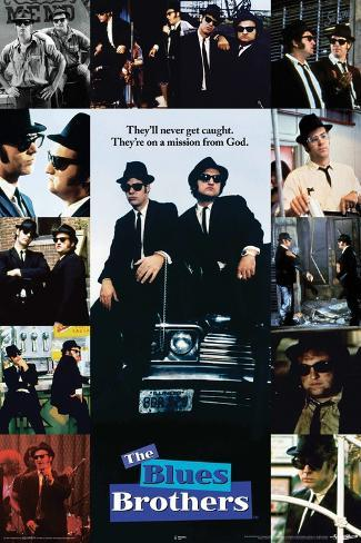 Blues Bros Collage Poster