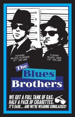 Blues Brothers Blacklight Blacklight Poster
