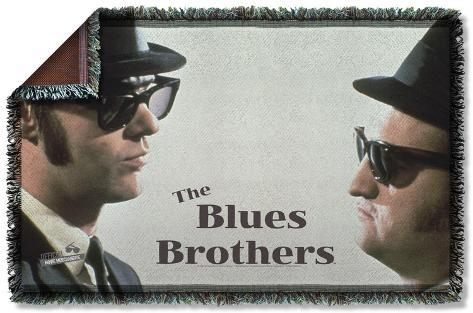 Blues Brothers - Brothers Woven Throw Throw Blanket