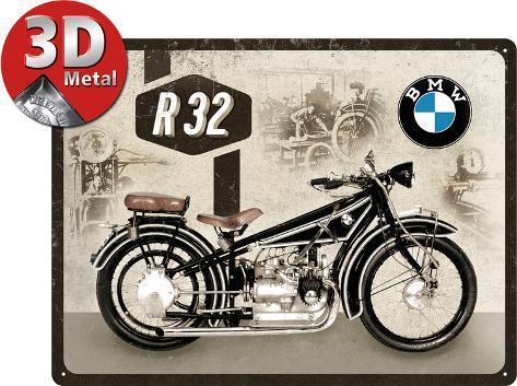 BMW Motorcycle R Tin Sign AllPosterscouk - Bmw motorcycle tin signs