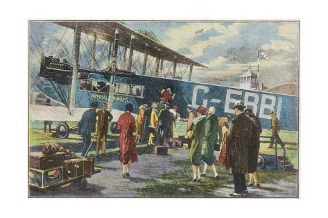 Boarding at Croydon Giclee Print