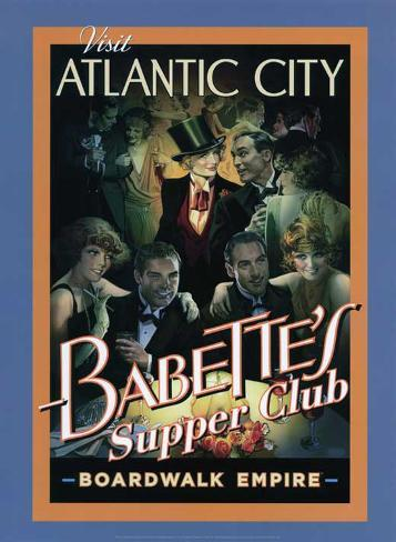Boardwalk Empire - Babette's Supper Club Poster