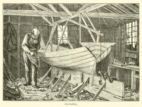 Boat-Building Giclee Print