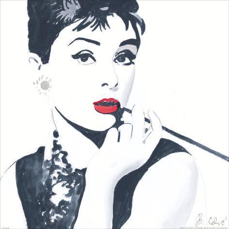 Audrey Hepburn Poster by Bob Celic at AllPosters.com