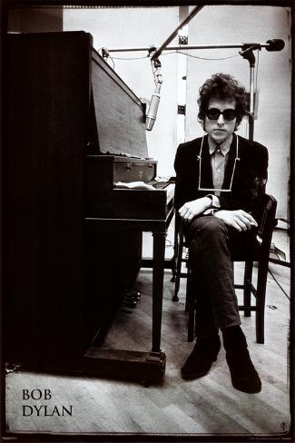 Bob Dylan - Piano Poster
