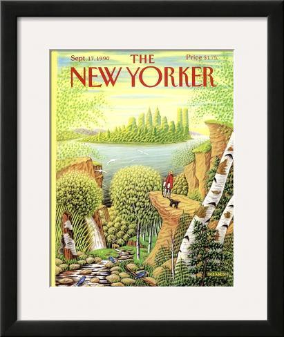 The New Yorker Cover - September 17, 1990 Framed Giclee Print