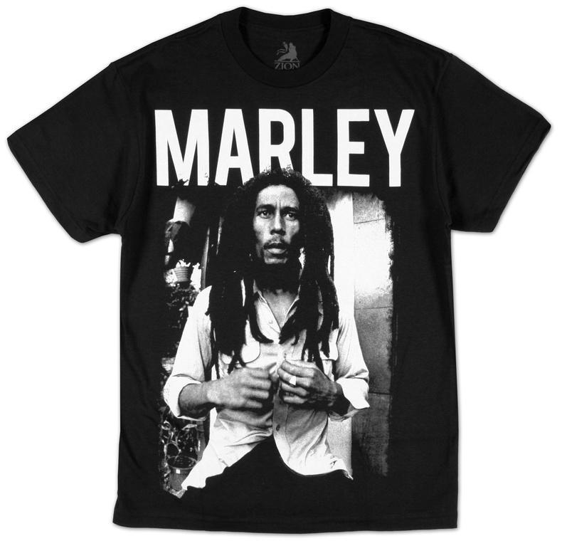 Bob Marley - Black & White Camisetas en AllPosters.es