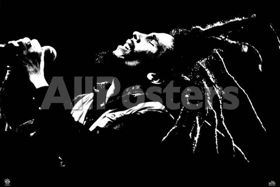 Bob Marley, Blanco y negro Pósters en AllPosters.es