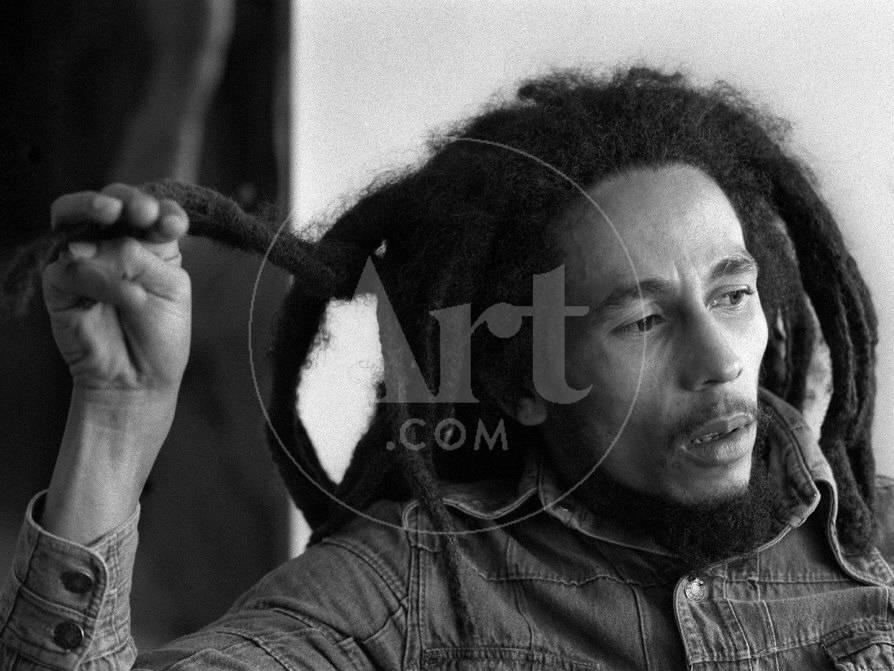 Bob Marley Jamaican Reggae Singer/Writer Talking Duing an Interview ...