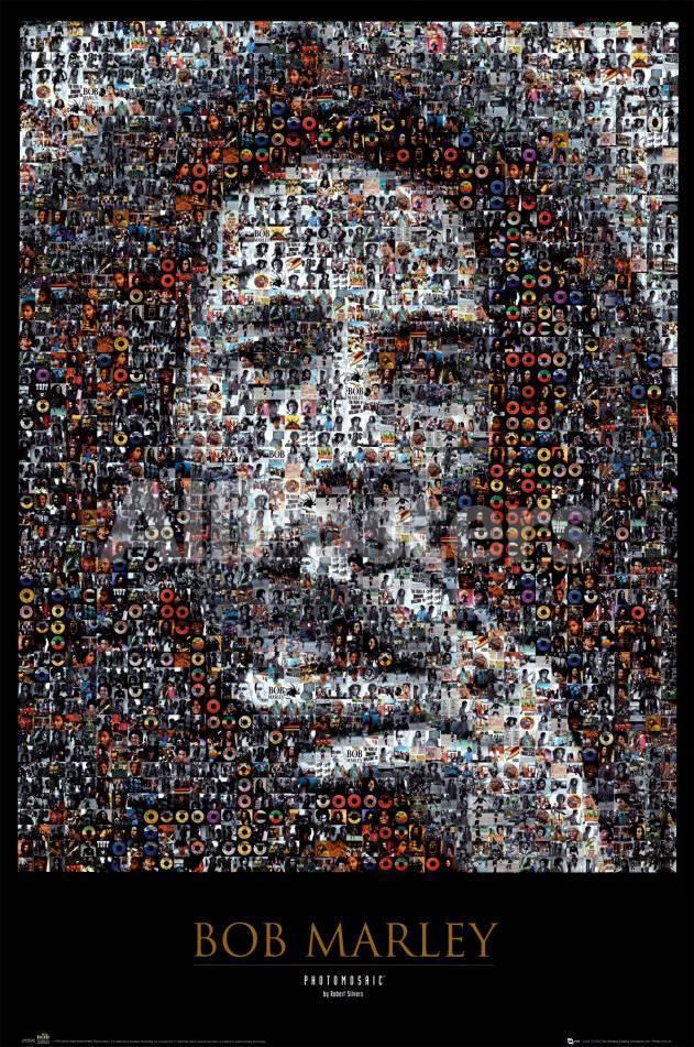 Bob Marley, mosaico Pósters en AllPosters.es