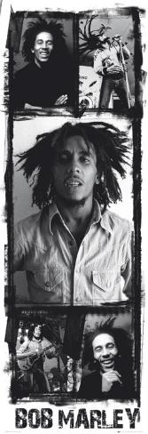 Bob Marley - Photo Collage Door Poster