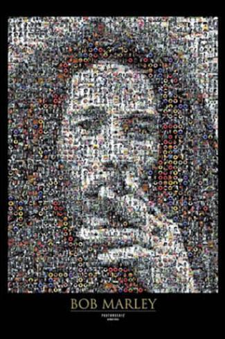 Bob Marley - Photomosaic I Giant Poster