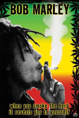 Bob Marley - Smoke the Herb Man! Poster