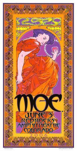 Moe. at Redrocks Ampitheathre, Colorado Art Print