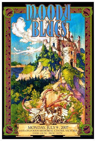 Moody Blues in Concert Art Print