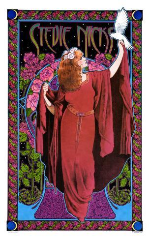 Stevie Nicks, White Winged Dove Art Print