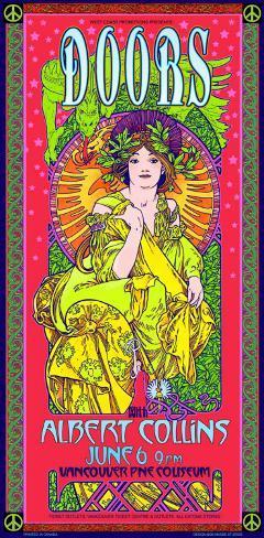 The Doors at Vancouver PNE Coliseum, 1970 Vancouver Art Print
