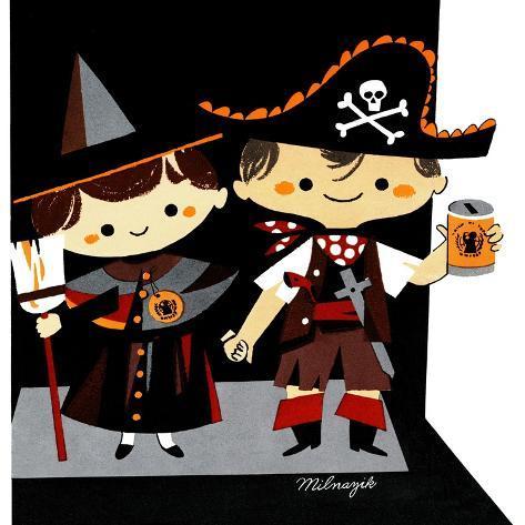 Halloween Friends - Jack & Jill Giclee Print