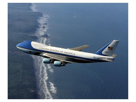Boeing 747-200B Air Force One Stampa giclée premium