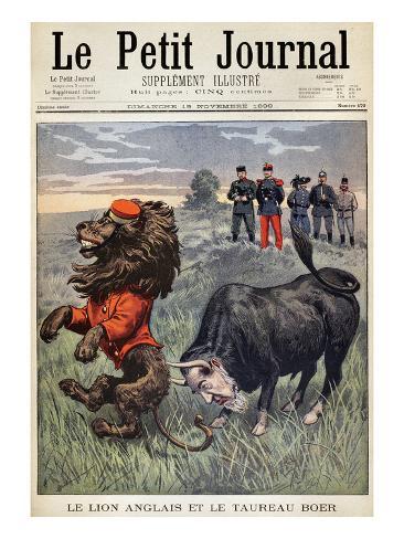 Boer War Cartoon, 1899 Stretched Canvas Print